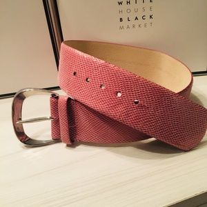 WHBM pink wide belt